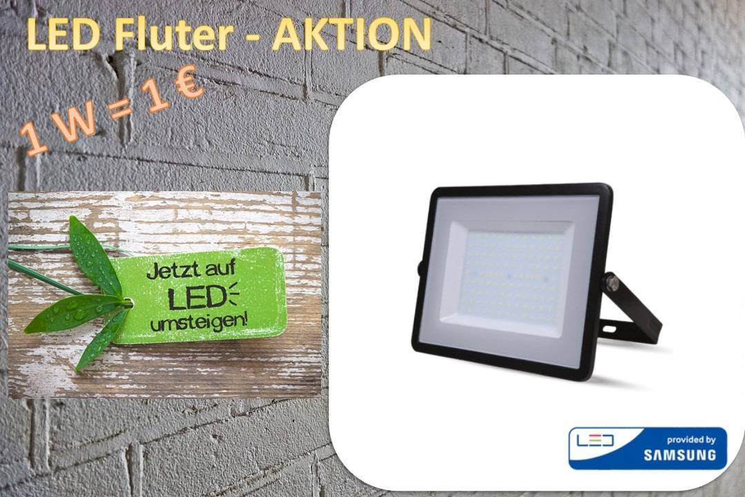 "LED Fluter Aktion ""1 Watt - 1 Euro"""