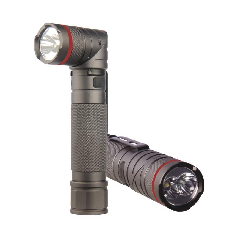 stier led taschenlampe mit akku uv licht drehbarem kopf und magnet. Black Bedroom Furniture Sets. Home Design Ideas