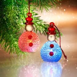 2-er Set Schneemänner mit Farbwechsel-Funktion
