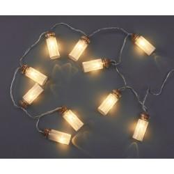 10er Lichterkette Flaschenpost, LED-Sterne