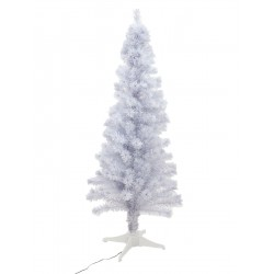 EUROPALMS Tannenbaum Fiber LED, 180cm, weiß