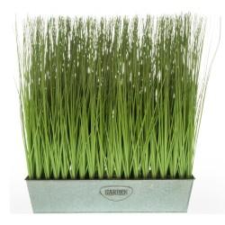 Kunst-Gras im Metalltopf Garden 53cm