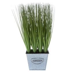 Kunst-Gras im Metalltopf Garden 28cm