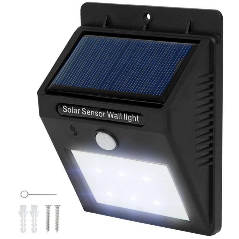 led solar wandleuchte mit bewegungssensor soundlightreflex shop. Black Bedroom Furniture Sets. Home Design Ideas