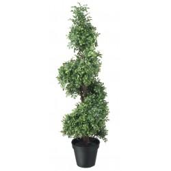 Topfpflanze künstlich Buchsbaum gedreht 94cm