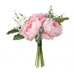 Kunstblumenstrauß rosa 25cm