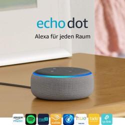 Amazon Echo Dot (3. Gen.) Intelligenter Lautsprecher mit Alexa, Hellgrau Stoff