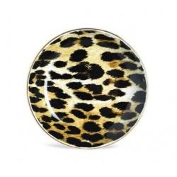 Dekoteller Leopard 11.5cm braun