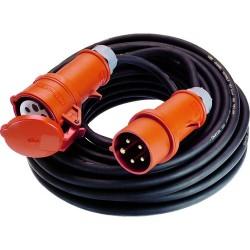 PCE-Electric CEE Verlängerungskabel 16A 20m schwarz