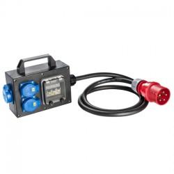 SIROX CEE-Vollgummi-Adapterbox mit CEE-Stecker 32A