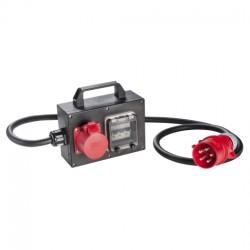 CEE-Vollgummi-Adapterbox mit CEE-Stecker 32A