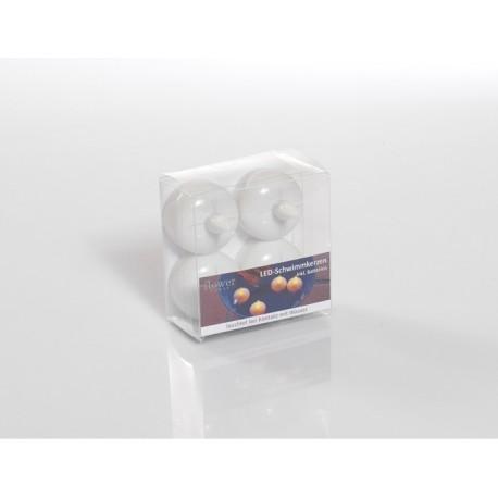 4er LED Schwimmkerzen