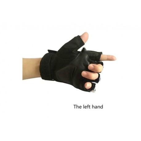 Laser Handschuhe Rot