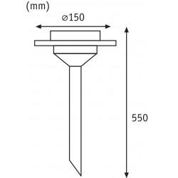 Outdoor Solarspieß Special Line Ufo LED Edelstahl, Klar, 1er Set
