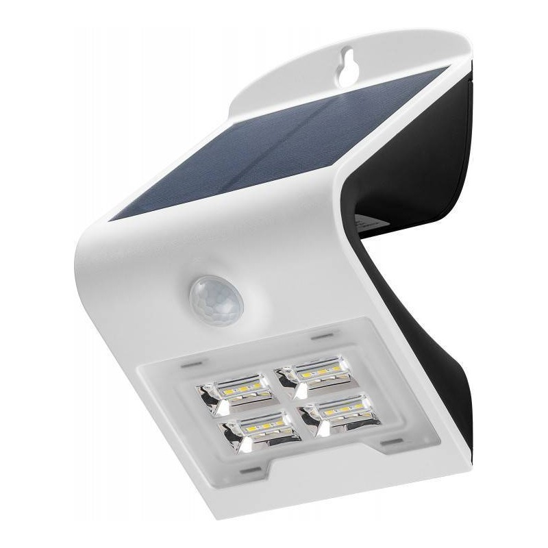 led solar wandleuchte mit bewegungsmelder 2 w. Black Bedroom Furniture Sets. Home Design Ideas