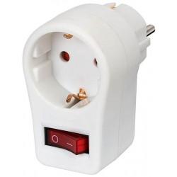 Brennenstuhl Adapterstecker Schutzkontakt mit Schalter