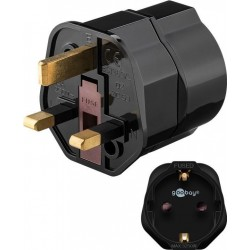 goobay Netzadapter EU - British 3-Pin-Stecker