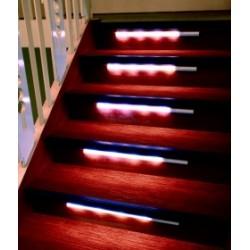 2tlg. Treppenbeleuchtung Ergänzungsset Treppenlicht LED Licht Abschaltautomatik