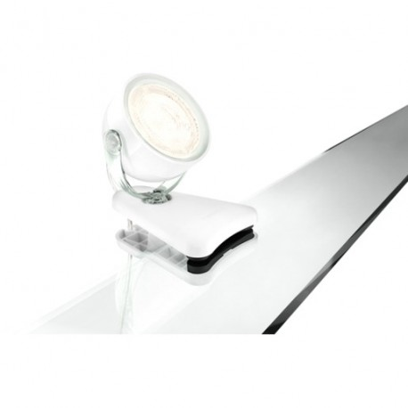 philips dyna klemmspot wei 3w 180lm 2700k. Black Bedroom Furniture Sets. Home Design Ideas