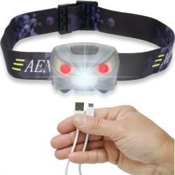 Wiederaufladbare USB LED Stirnlampe