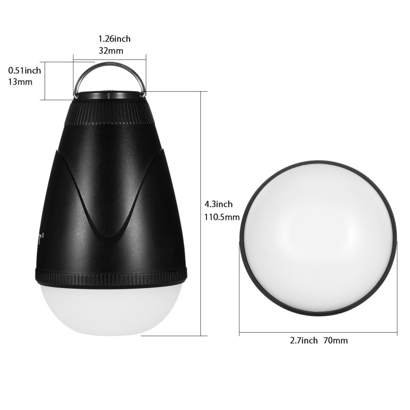 led camping leuchte ir fernbedienung dimmbar schwarz. Black Bedroom Furniture Sets. Home Design Ideas