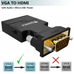 FOINNEX VGA zu HDMI Adapter mit Audio