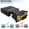 FOINNEX VGA zu HDMI Adapter mit Audio