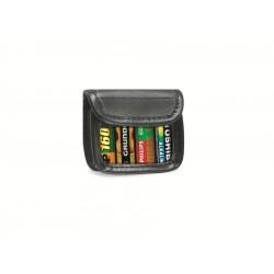 Akku/Batterie-Tasche mit Gürtelclip für 4 Mignon