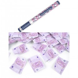 Konfetti-Kanone Party Popper 60cm 500 Euro-Spielgeld