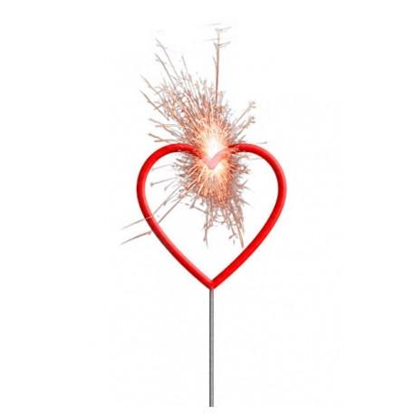 Wunderkerze - Herz, rot